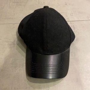 Danier leather brimmed baseball cap